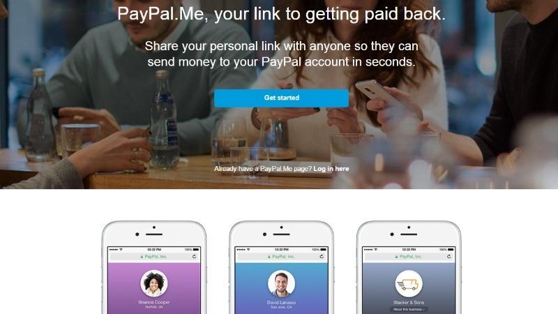 ایجاد سرویس paypal.me